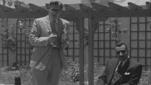 Robin Day interviews President Nasser of Egypt during the Suez Crisis